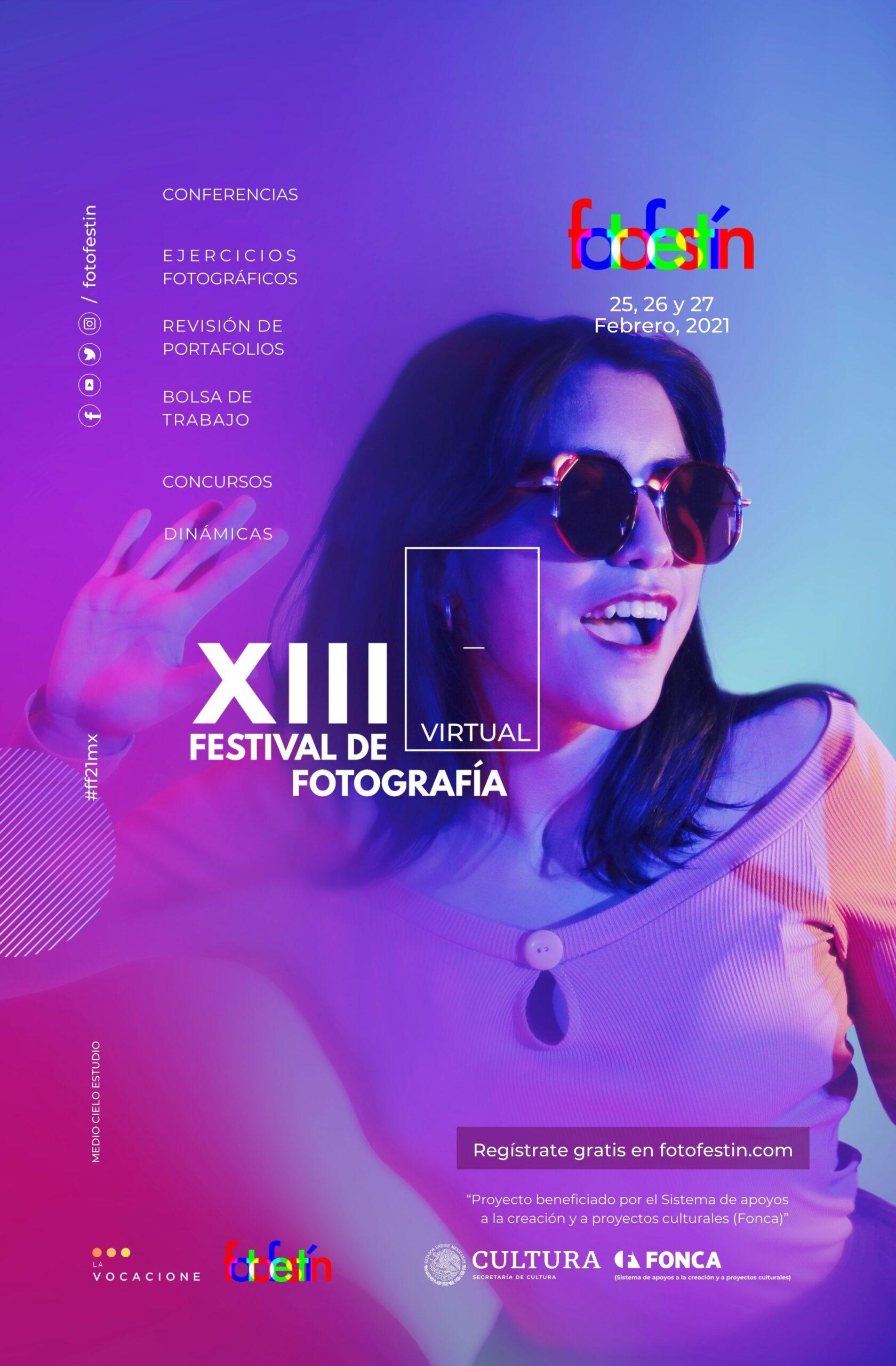 XIII Festival de Fotografía fotofestín conferencias clases talleres ejercicios fotográficos portafolios fotografos fotografas cámaras banner pop up