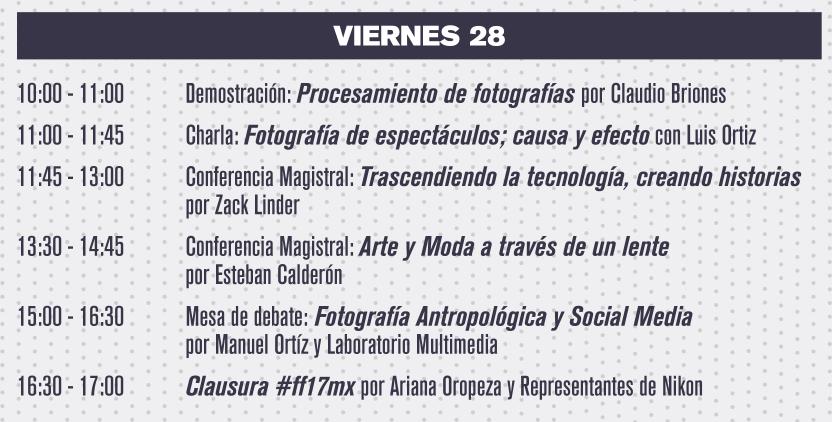 Programa de actividades ff17mx