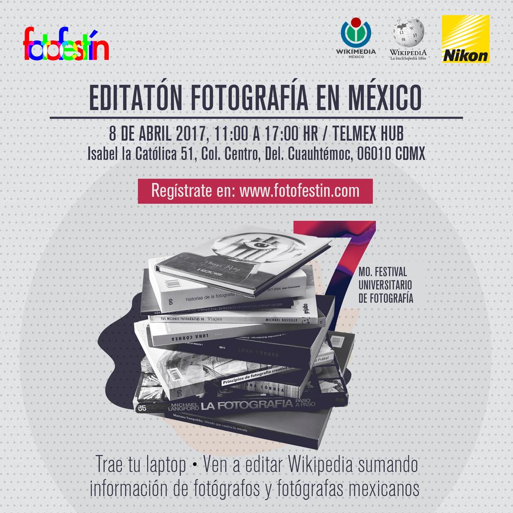 Editatón Fotografía de México fotofestín wikipedia