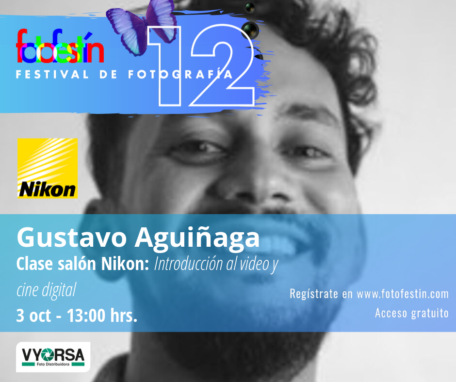 Gustavo-Aguiñaga-clase-introducción-al-video-festival-de-fotografía-fotofestín-ff19mx-nikon-fes-acatlán