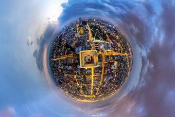 Flying Willy Torre-Latino México -Hora-Azul-Planeta - Ulises Escobar fotografia 360 panorámica como hacer