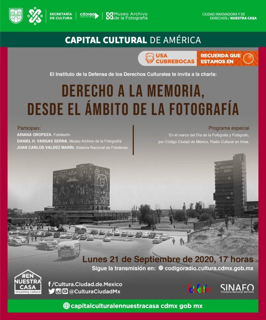 derecho a la memoria codigo radio cultura ciudad de mexico gobierno radio podcast fotofestin sinafo maf septiembre 2020